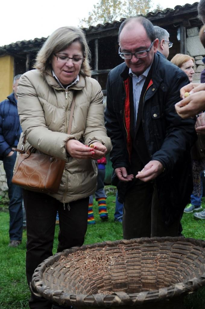 A directora xeral de Produción Agropecuaria, Patricia Ulloa, asistiu á III Festa da Pisa da Castaña (2)