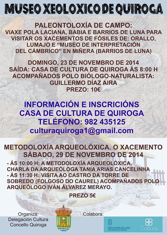 Aberto o prazo para anotarse ás actividades do Museo Xeolóxico de Quiroga