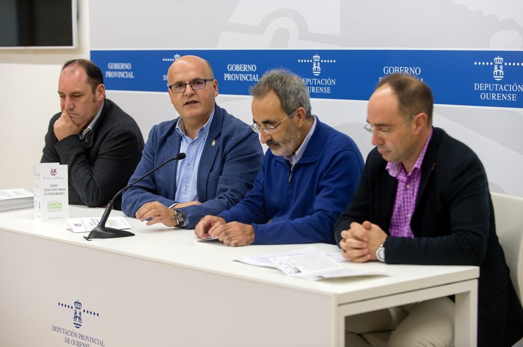 José Luis Troitiña, Manuel Baltar, Javier Casares e José María Faílde