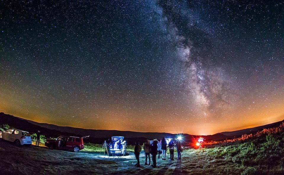 Observación astronomica en Valdín ( Trevinca A Veiga )