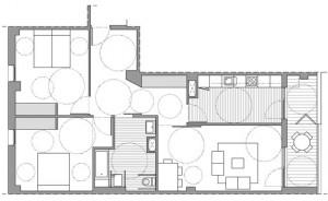 Plano de vivienda adaptada