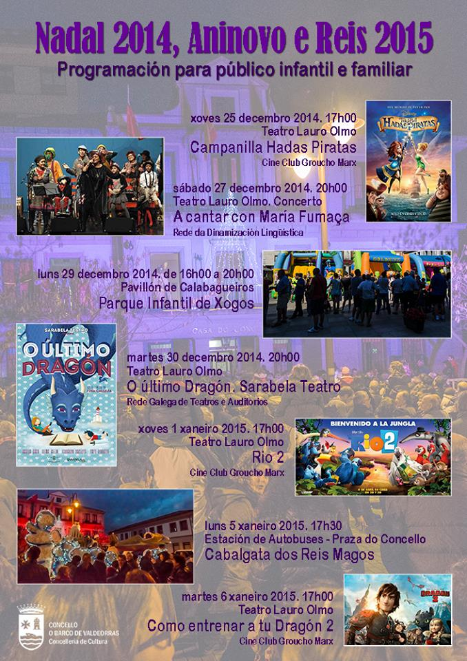 Actividades para Nadal 2014 en O Barco