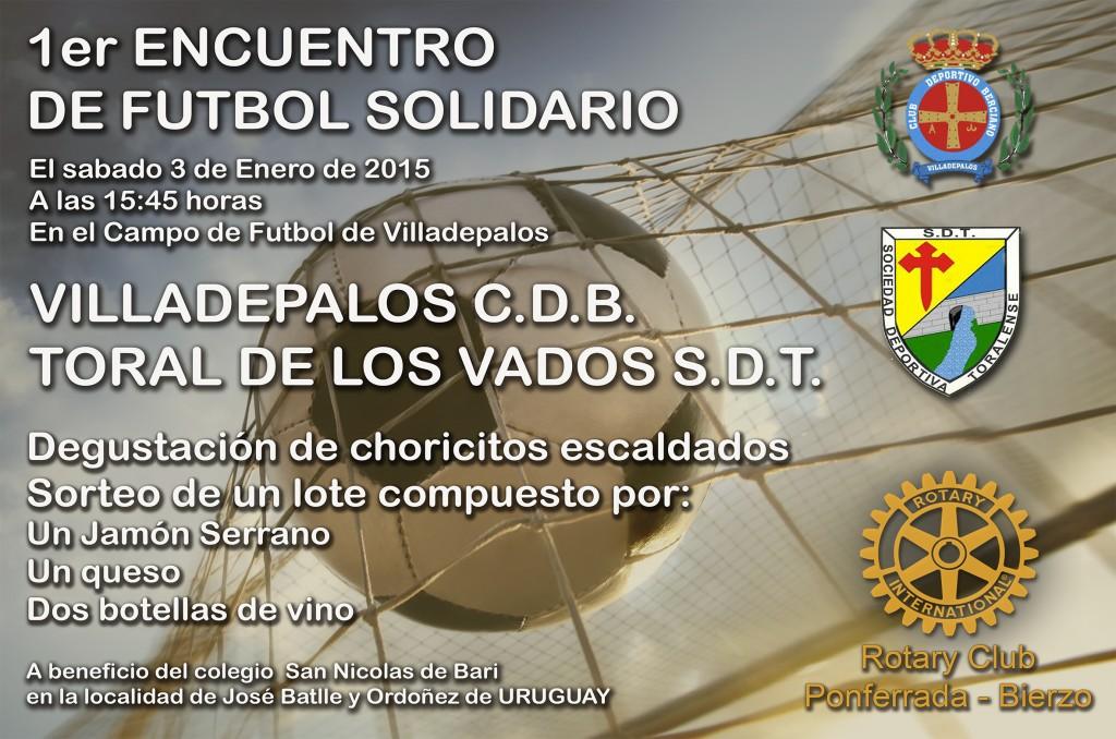 Cartel Futbol solidario
