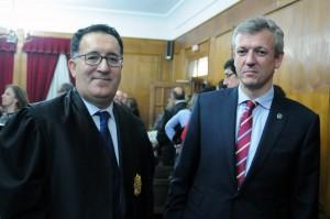 O vicepresidente da Xunta, Alfonso Rueda asistiu hoxe á toma de posesión do presidente da Audiencia Provincial de Ourense, Antonio Piña