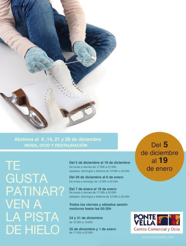 Pista de hielo en Ourense en Navidades