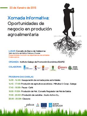 Celébrase no Barco a Xornada Informativa, 'Oportunidades de Negocio en produción agroalimentaria'