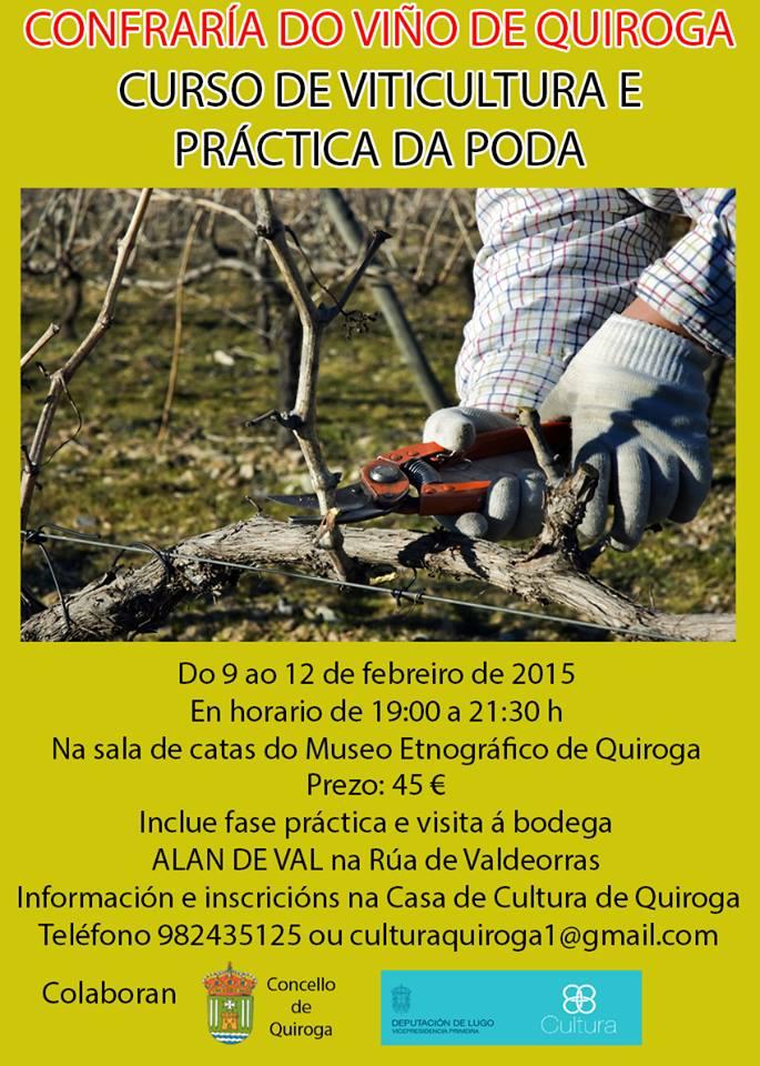 Curso de viticultura e práctica da poda organizado pola Confradía do Viño de Quiroga