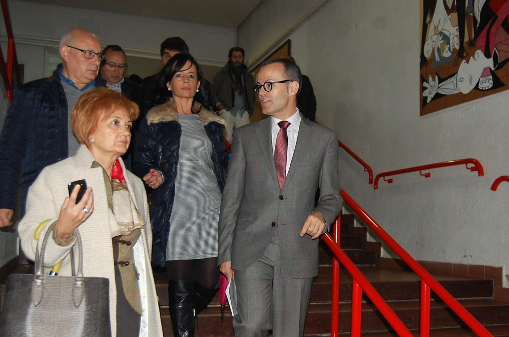 Xesús Vázquez visitou o centro o pasado mes de novembro