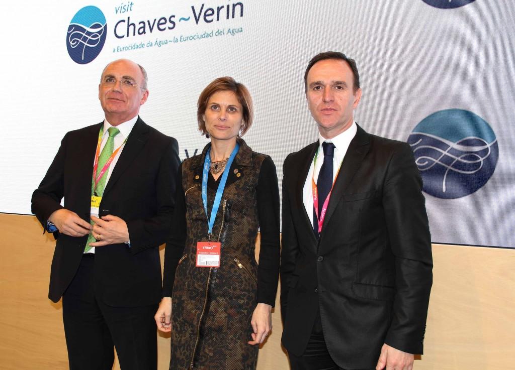 El director de la Agrupación Europea de Cooperación Territorial y alcalde de Verín, Juan Manuel Jiménez Morán, y el Vicepresidente de la Cámara Municipal de Chaves, Carlos Penas
