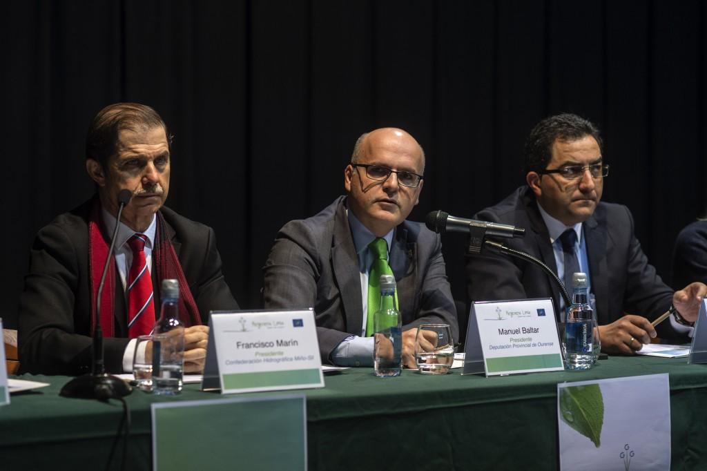 Francisco Marín, Manuel Baltar e Antonio Pérez.