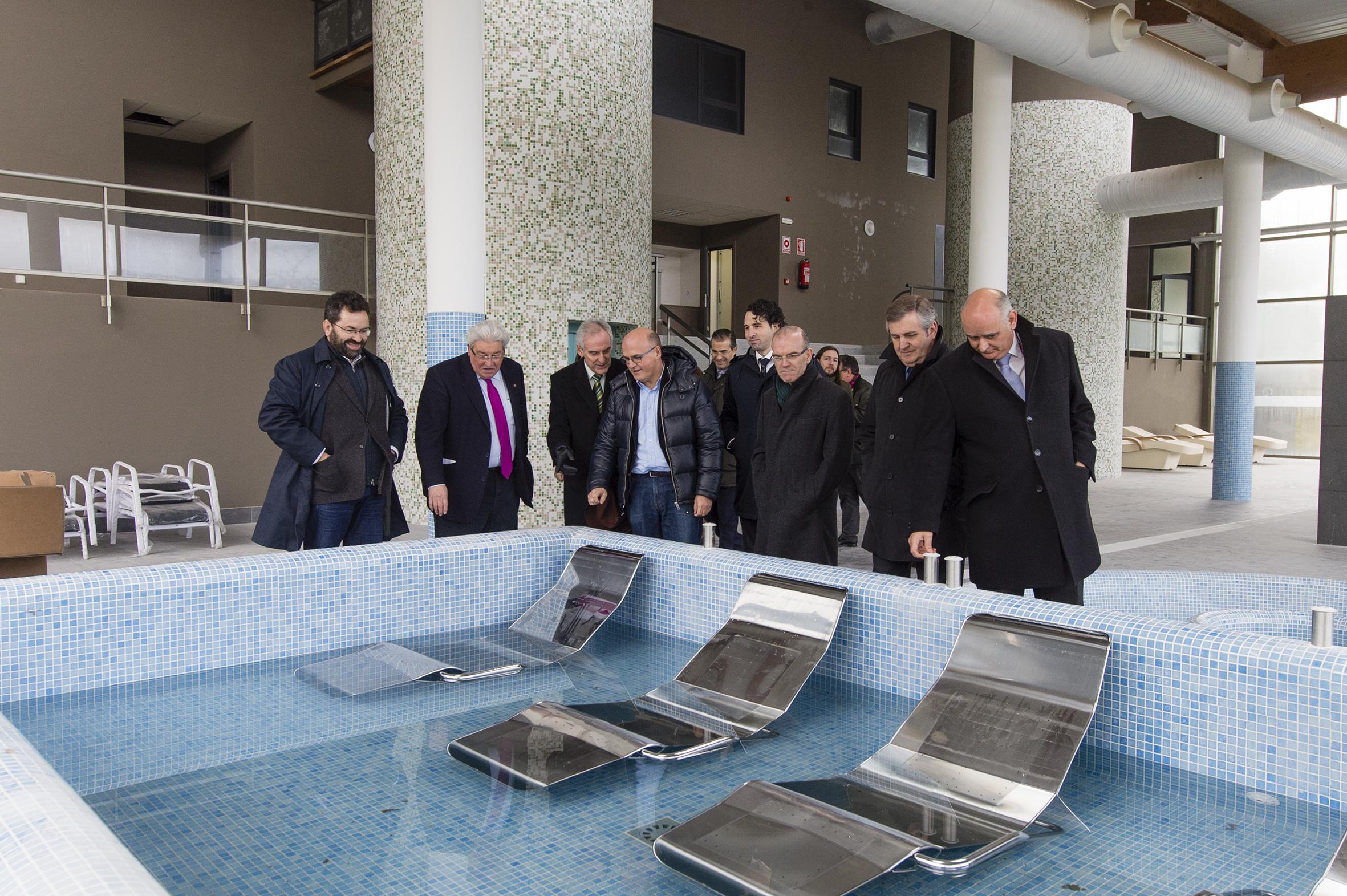 Manuel Baltar, na súa visita ás obras do Balneario de Cortegada