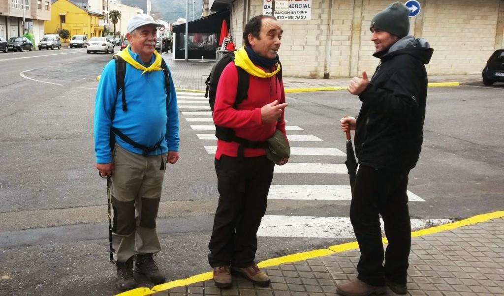 peregrinos amigos del Camino de Santiago Leon