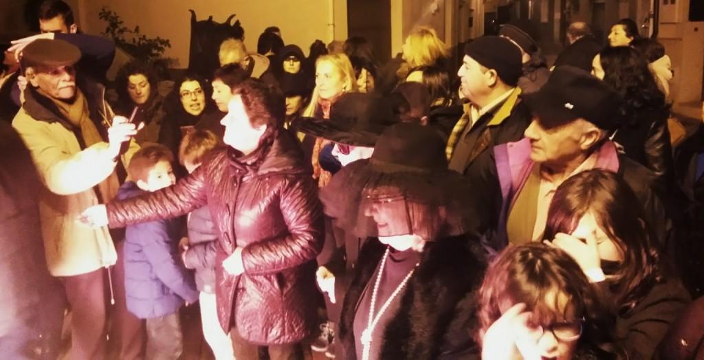 publico entierro sardina a rua