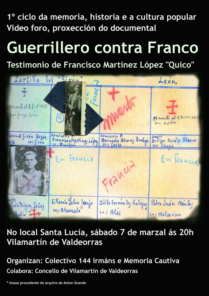 Cartaz Guerrillero contra Franco