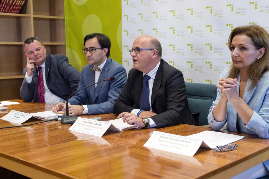 Juan Carlos Armesto, José Julio Fernández, Manuel Baltar e Beatriz González
