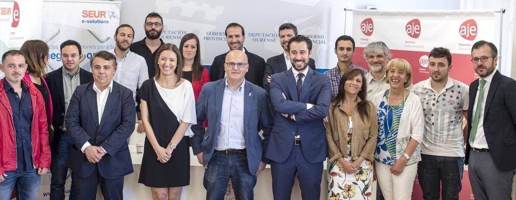 Manuel Baltar, co Círculo de Xóvenes Empresarios de Ourense