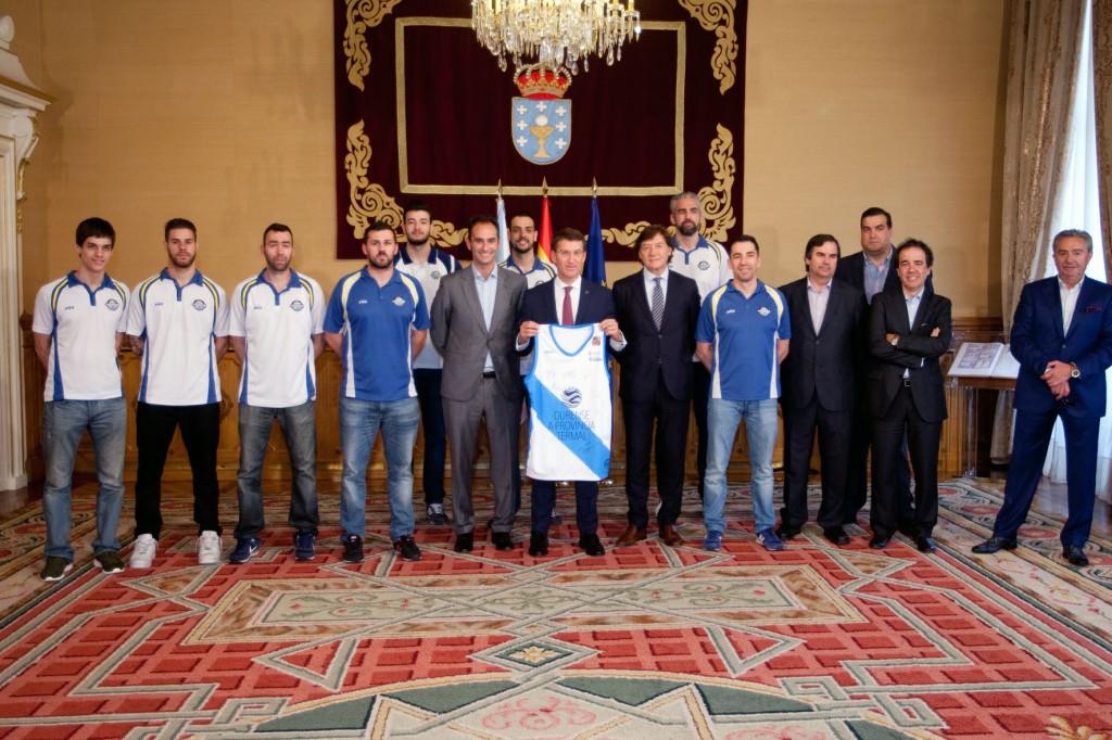 O presidente da Xunta, acompa–ado do secretario xeral para o Deporte, JosŽ Ram—n Lete Lasa, recibir‡ o Club Ourense Baloncesto S.A.D. con motivo do seu ascenso ‡ Liga ACB.