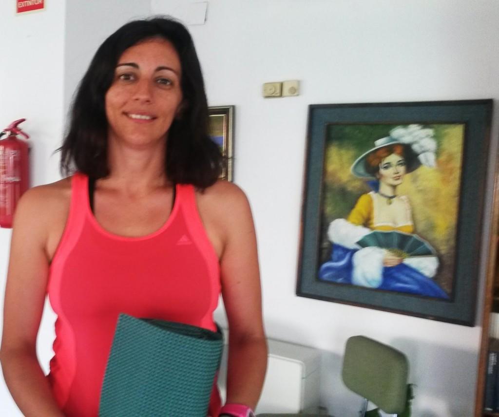 Raquel, profesora de pilates