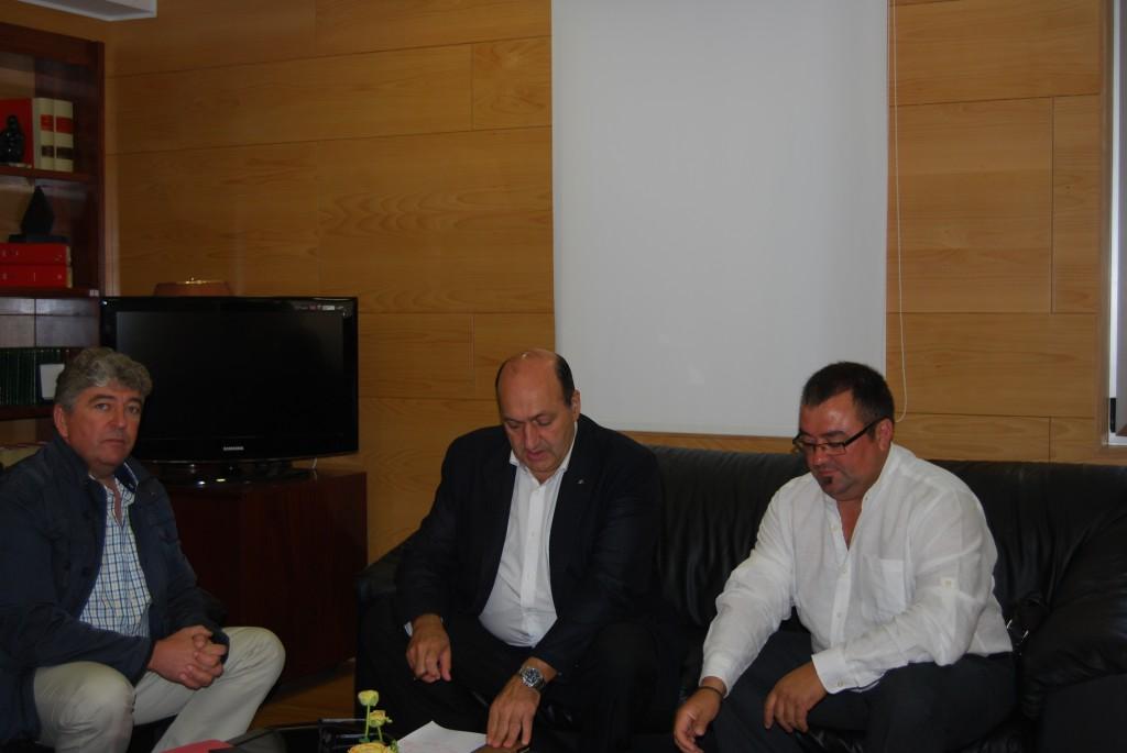 Reunión novo alcalde Sandiás