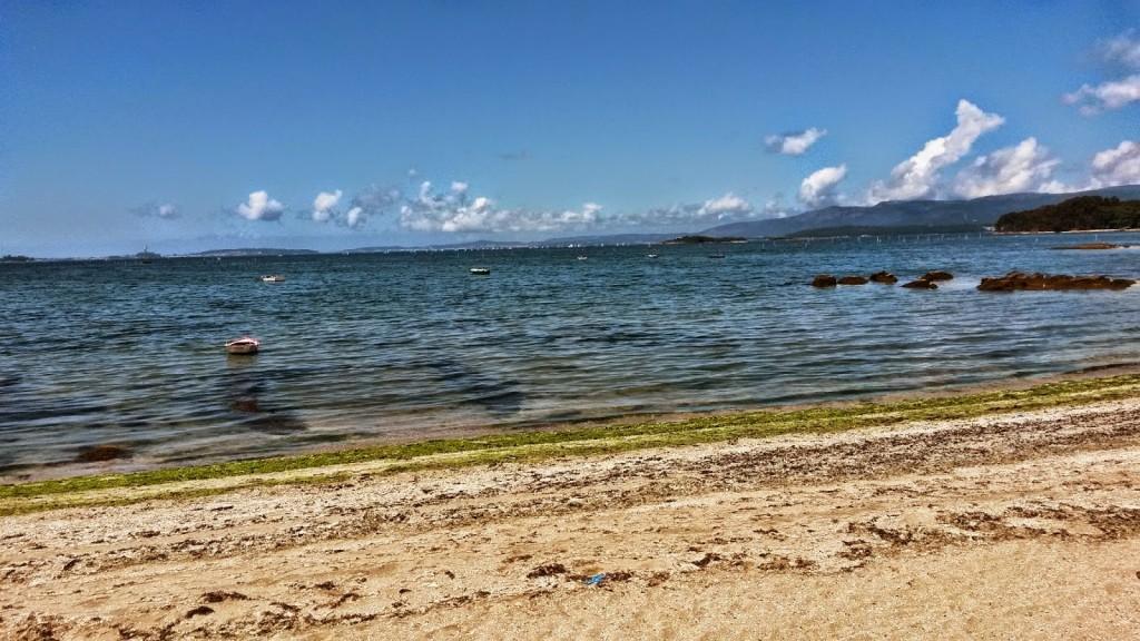 Lanchas en el mar en Carril