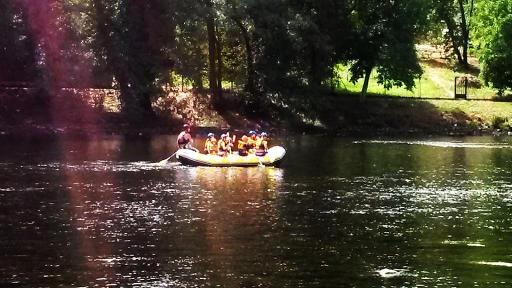 rafting en el sil en o barco