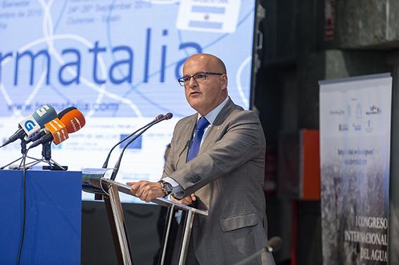 Manuel Baltar en la inauguración