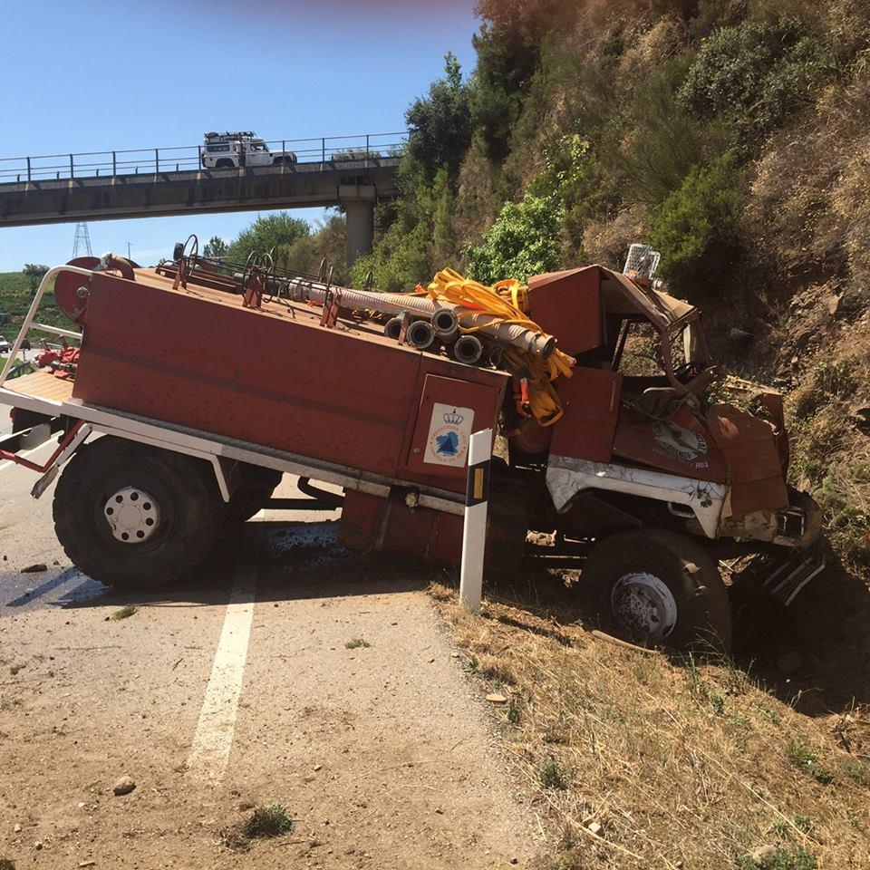 Foto: Archivo anterior accidente de una motobomba en Valdeorras