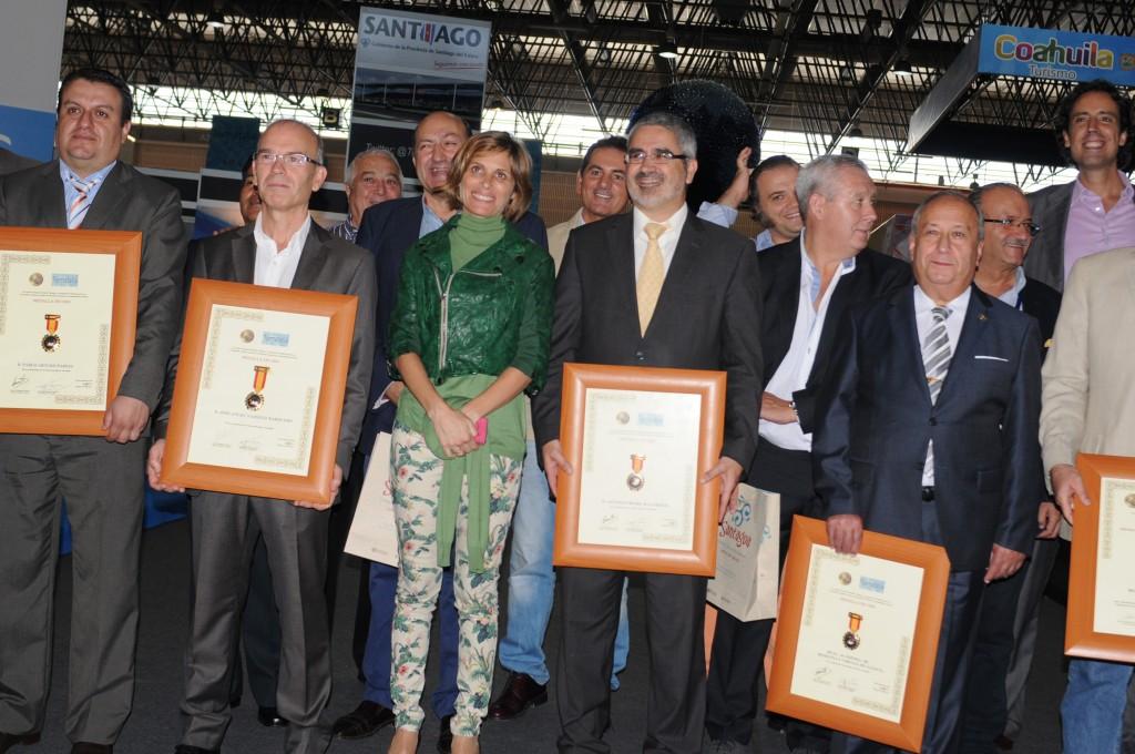 Castro, y el delegado territorial de la Xunta en Ourense, Rogelio Martínez, participararon en la entrega de premios de la III Cata Extraordinaria de Aguas