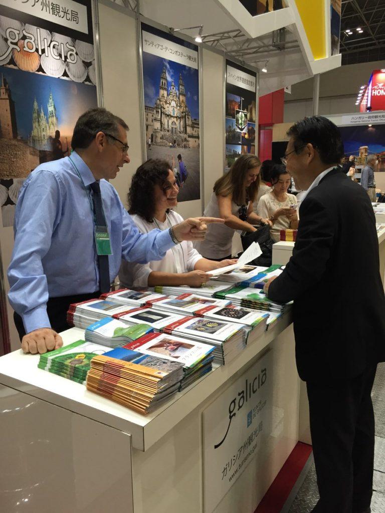Mostrador de Turismo de Galicia en la feria JATA