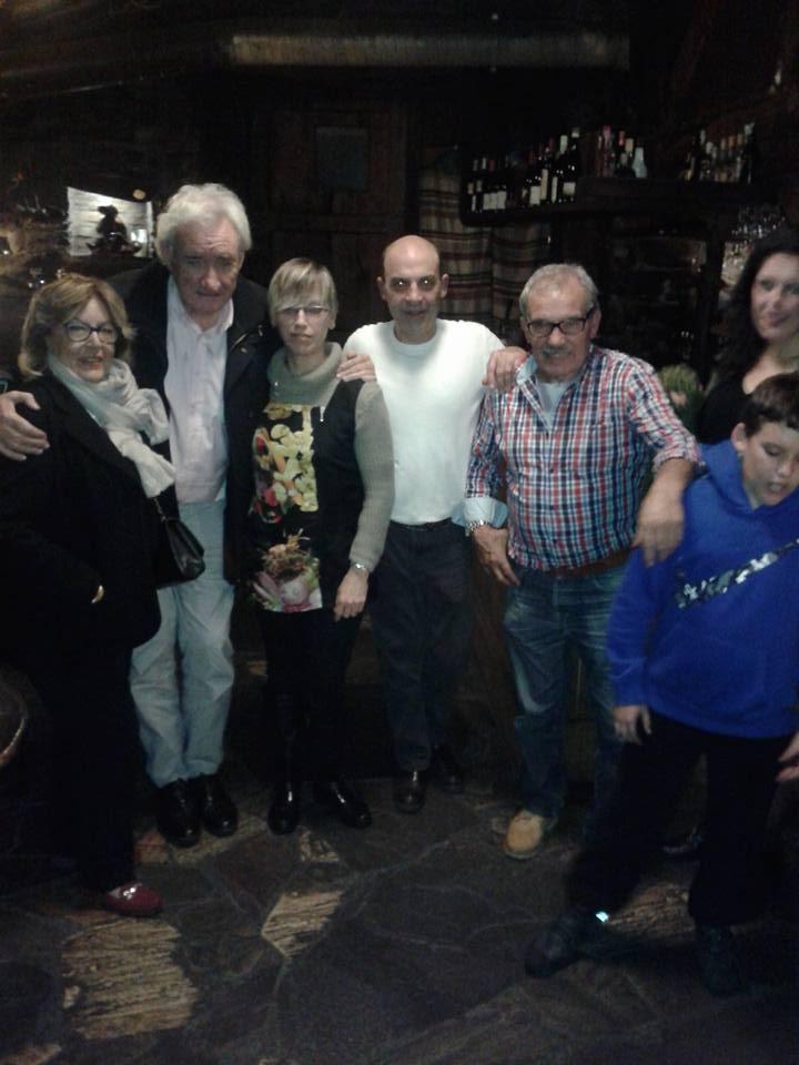 Luís del Olmo y Prada con los gerentes de la palloza