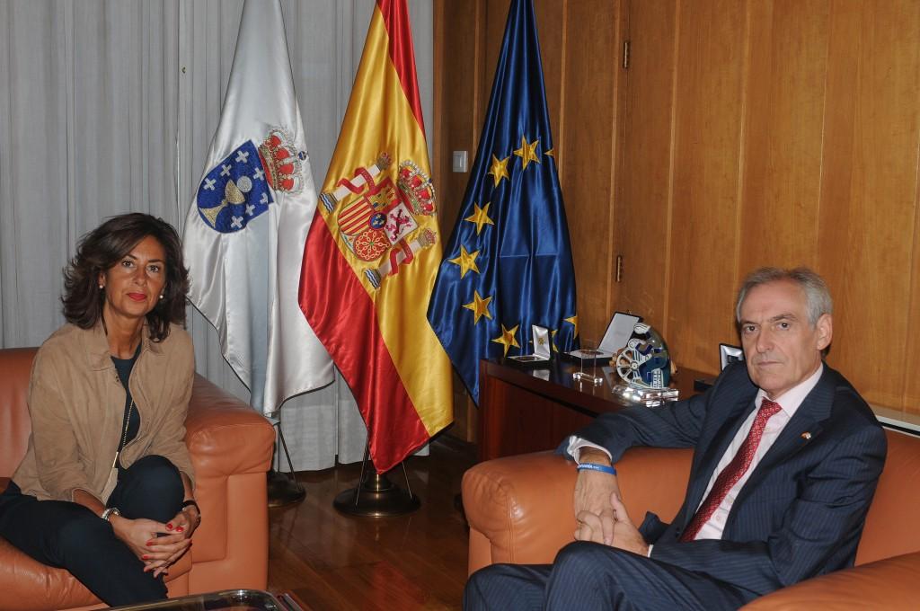 A delegada territorial da Xunta en Ourense, Marisol Díaz Mouteira, mantivo hoxe unha xuntanza co subdelegado do Goberno, Roberto Castro