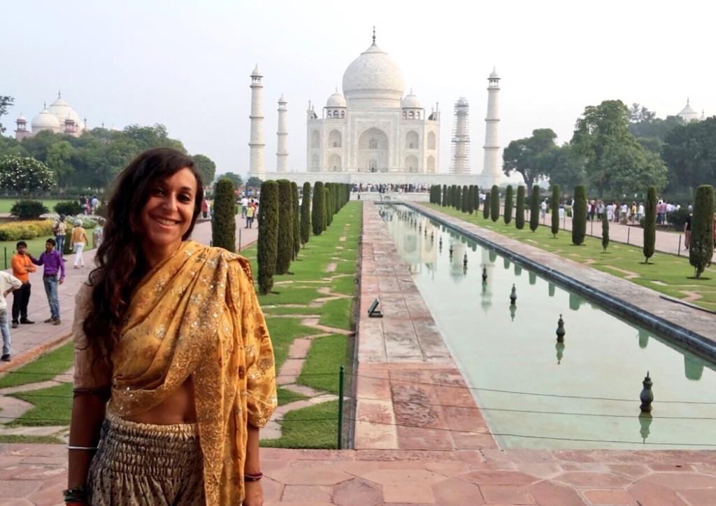 Eva Abal en la India
