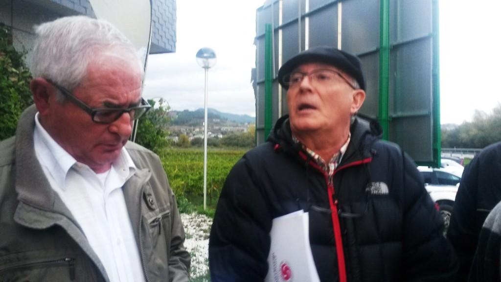 Evaristo y García que abandonaron el pleno del Consejo