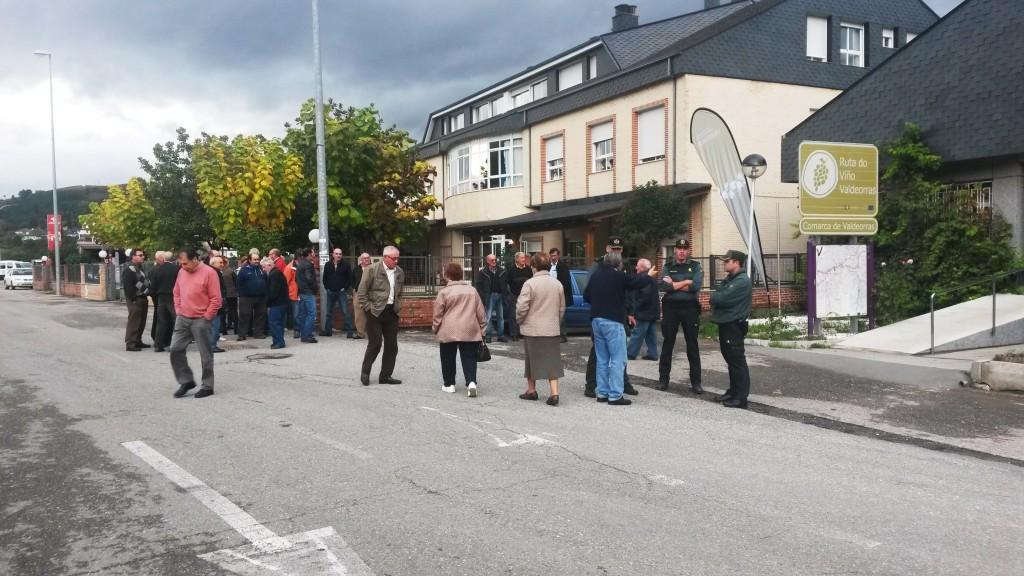 Guardia Civil y los viticultores