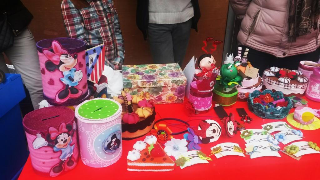Objetos hechos por los alumnos del centro de Asfaval