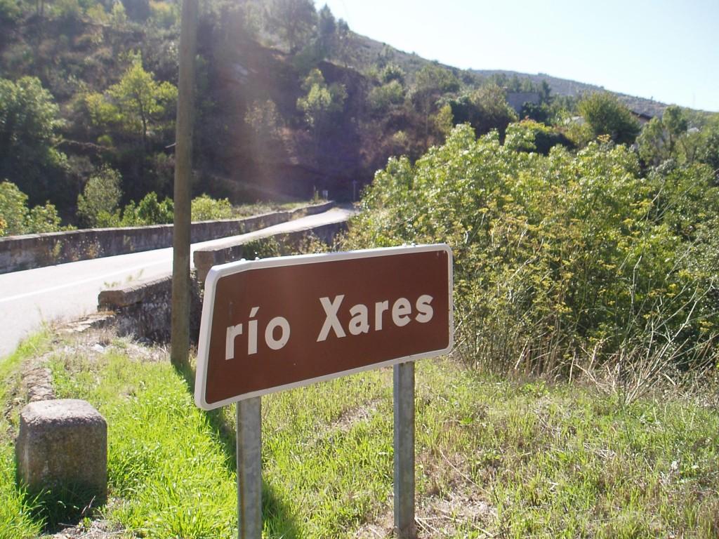 Cartel indicativo Río Xares