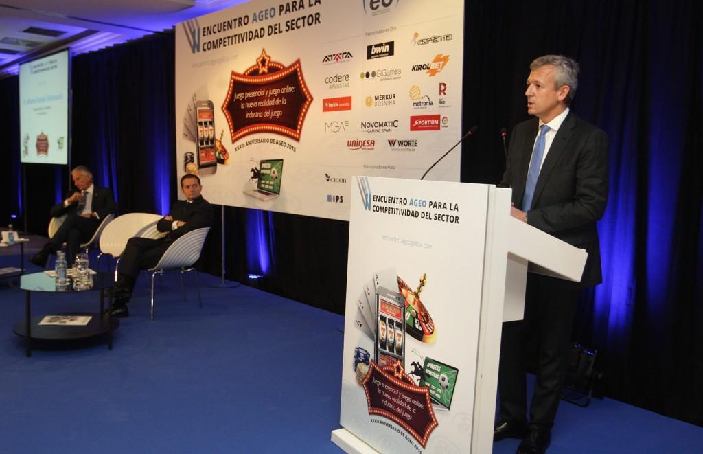 """El vicepresidente de la Xunta, Alfonso Rueda, clausuró el """"II Encuentro AGEO para la competitividad del sector""""  Autor: Conchi Paz"""
