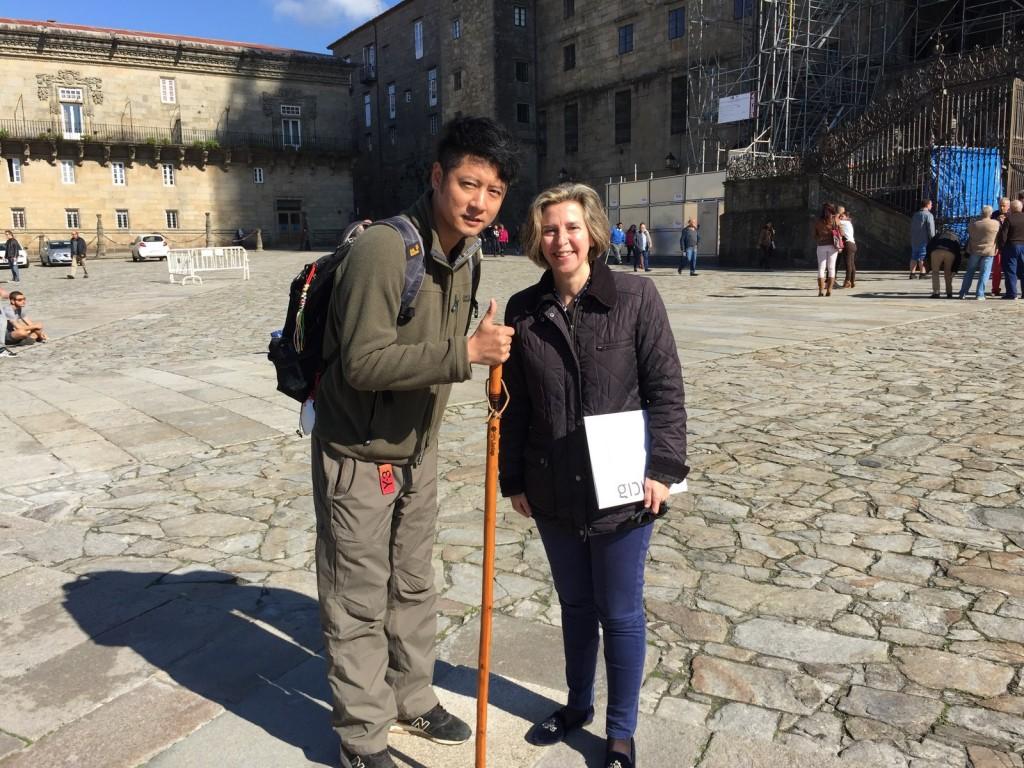 Xornalistas procedentes de China visitaron a nosa comunidade estes días para realizar o Camiño de Santiago