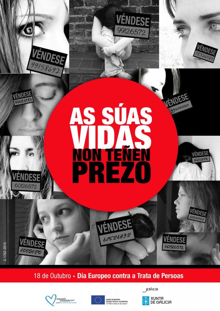 Cartel do Día Europeo contra a Trata de Seres Humanos