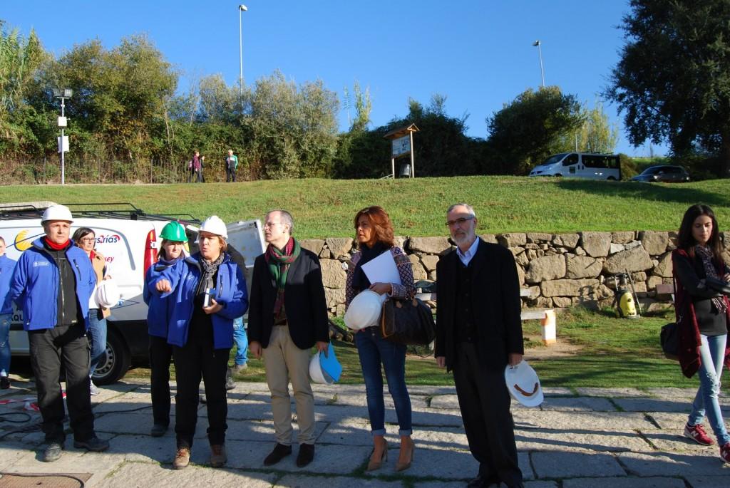 A delegada territorial da Xunta e o alcalde da cidade das Burgas visitaron esta iniciativa de emprego