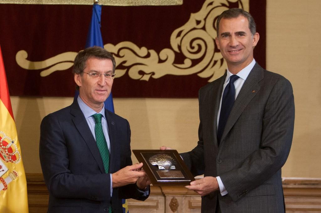 O presidente da Xunta, Alberto Núñez Feijóo, entregará o título de embaixador de Honra do Camiño de Santiago á S. M. El-Rei Felipe VI.