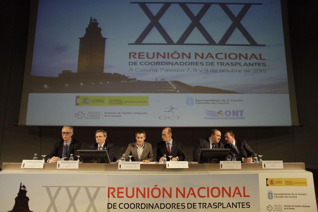 Vázquez Almuiña presidiu onte a inauguración do XXX Congreso Nacional de Coordinadores de Transplantes Auotría: Moncho Fuentes / AGN