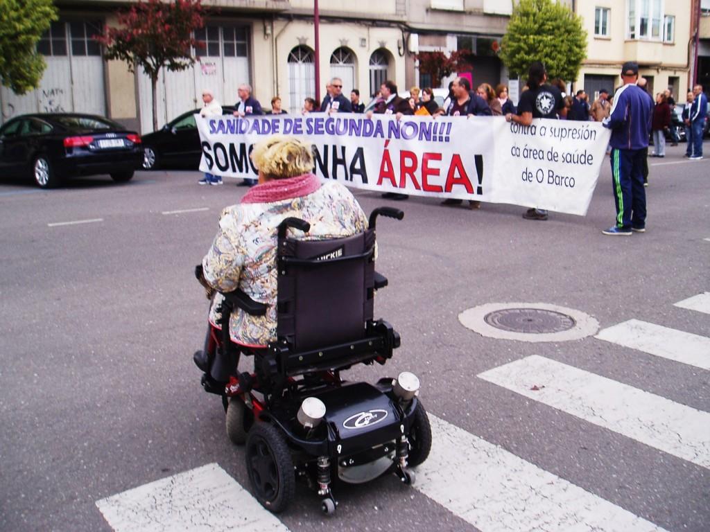 Manifestación por la sanidad en O Barco