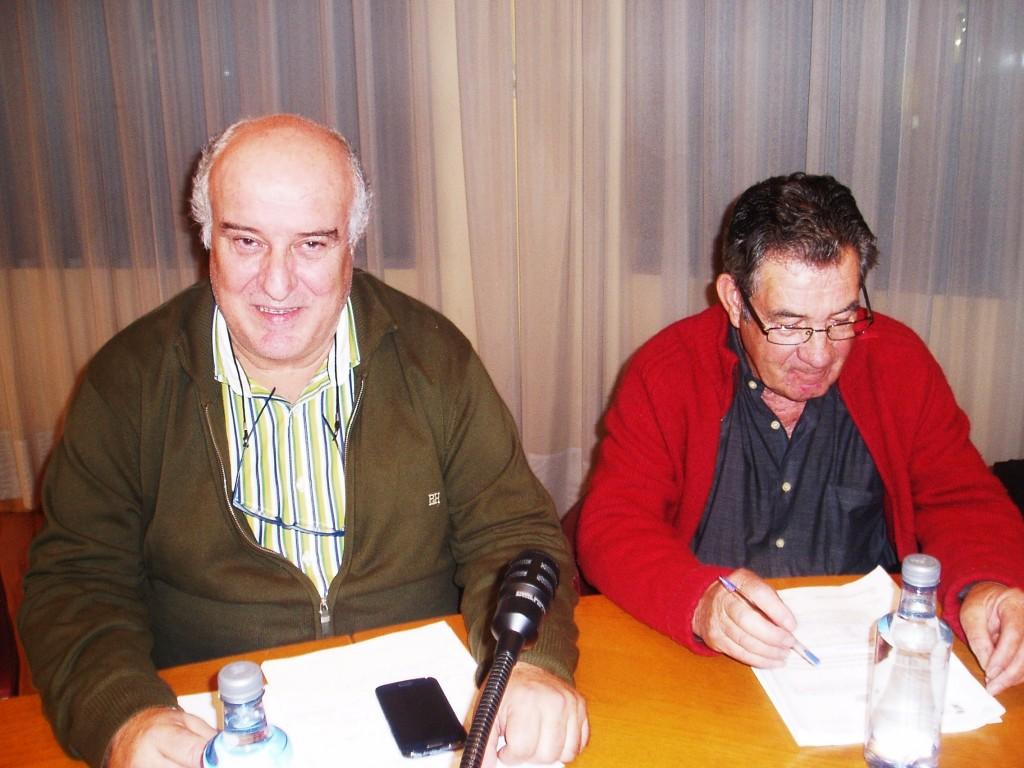 Avelino García Ferradal (PP), a la izquierda