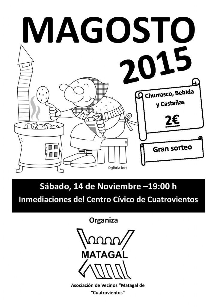 Cartel del Magosto 2015 en Cuatrovientos