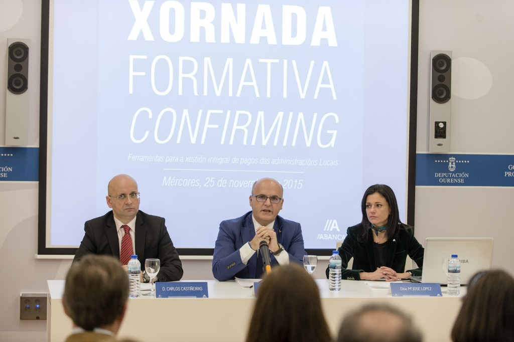 Carlos Castiñeiras, Manuel Baltar e María José López Rubal