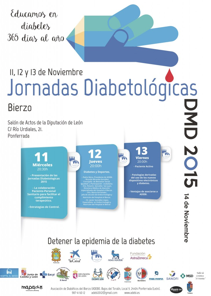 Cartel Jornadas Diabetológicas y DMD 2015