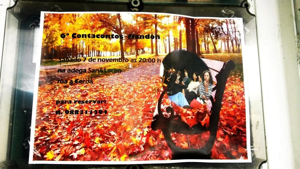 Cartel de la sexta edición del Contacontos fiandón