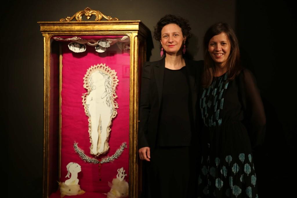 Cristina Lamela directora de Ikoo (a la derecha)  y Reme Remedios (a la izquierda)