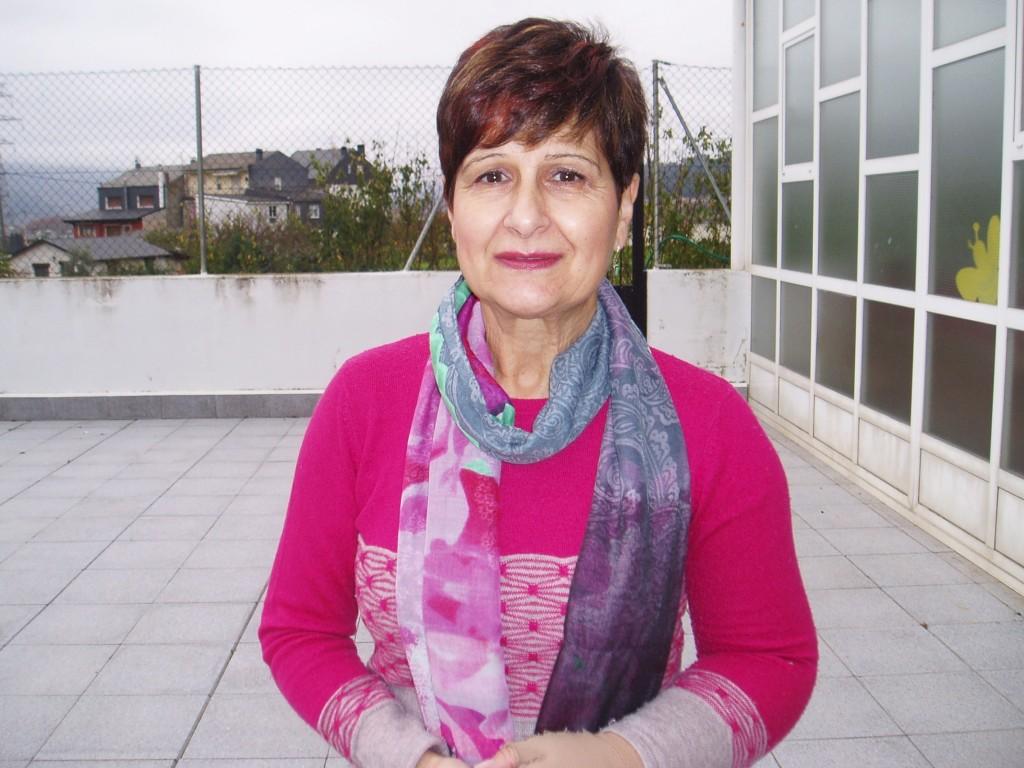 Gloria Pérez Pérez, presidenta de la Asociación Contra el Cáncer en O Barco
